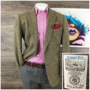 J Press Donegal Tweed Wool Cashmere Mens Blazer